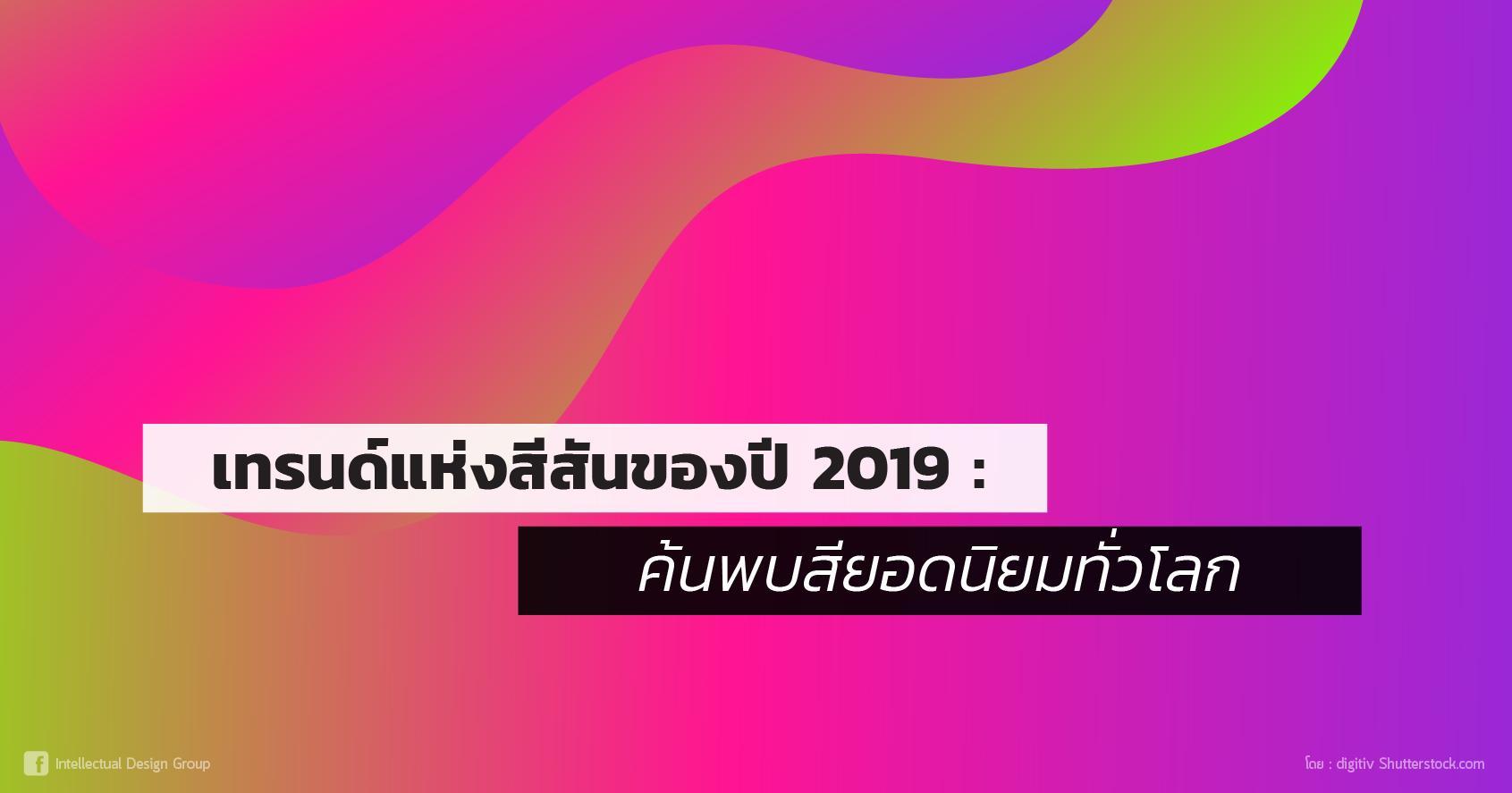 3 เทรนด์ สีสัน ปี 2019
